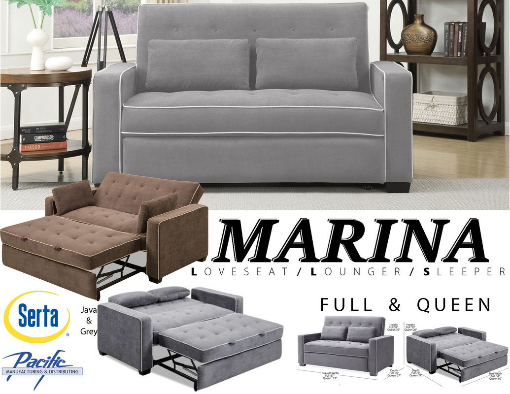 Serta Sofa Beds Brown Leather Convertible Sofa Bed
